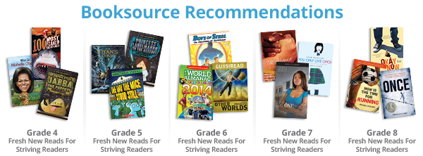 Booksource Recomendations Grade 4-8