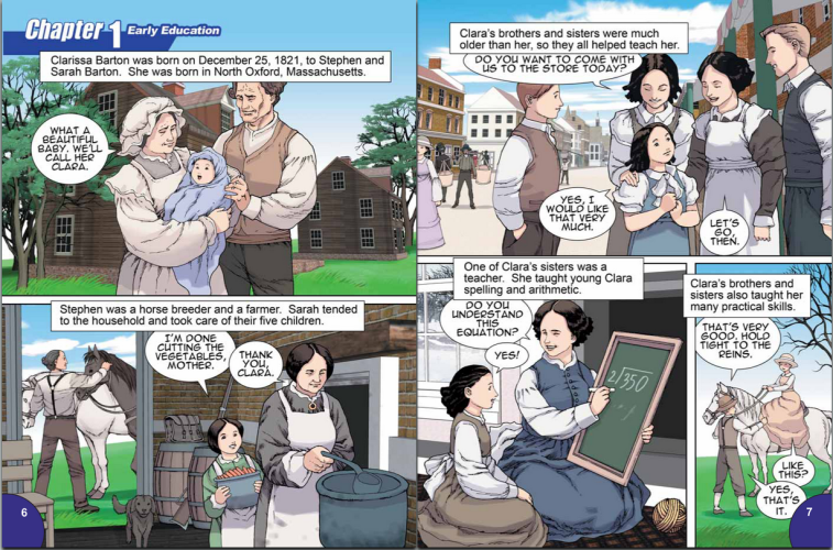 Whole Class Reading Instruction: Biographics Clara Barton by Joeming Dunn