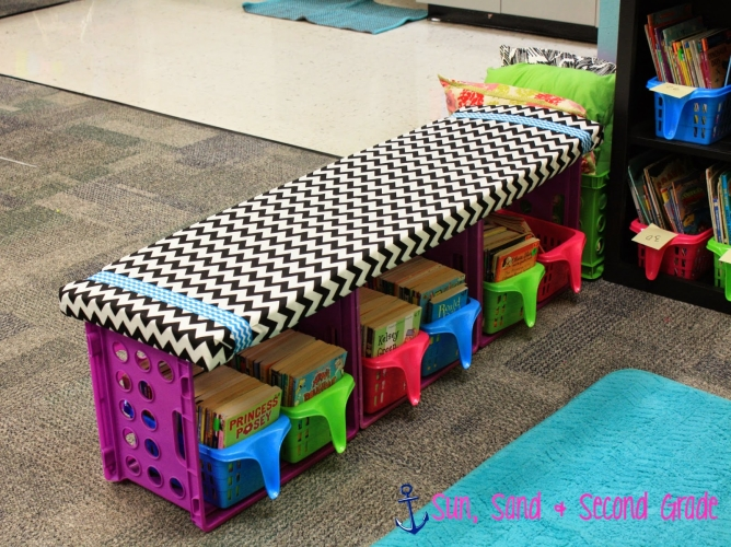 Classroom Library Hacks: Crate Bench