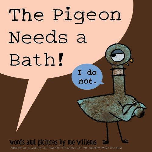 The Pigeon Needs A Bath - Top Ten Read Aloud Picture Books 2014